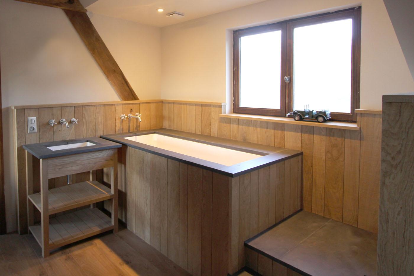 Chambre Ouverte Salle De Bain salle de bain sur mesure | barbara delaruelle - architecte d